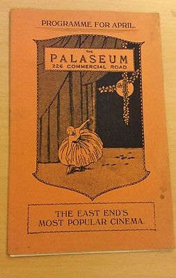 The Palaseum Cinema,commerical Road,london.programme For April 1930.