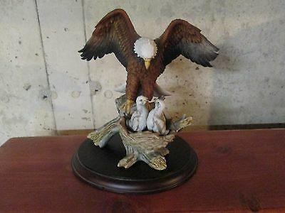 american eagle gallery porcelain eagle figure with babies in nest