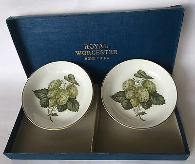 Royal Worcester Fine Bone China. Dishes The Worcester Hop. Mathon. Boxed