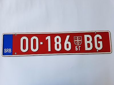 Serbia abnormal vehicle TRUCK TRAILER license plate Beograd 00 - 186 BG