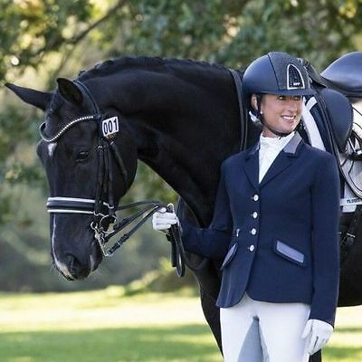 Equetech - Affinity Show Jacket -Quality Equestrian Competition Jacket  Navy 10