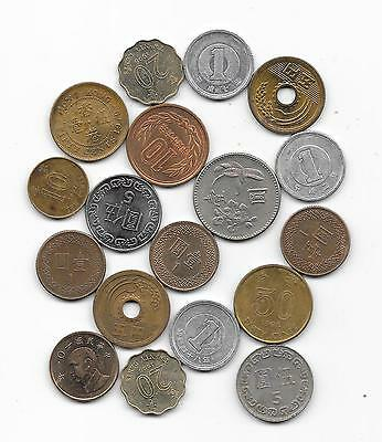 Lot  coins  HONG KONG + TAIWAN + JAPAN