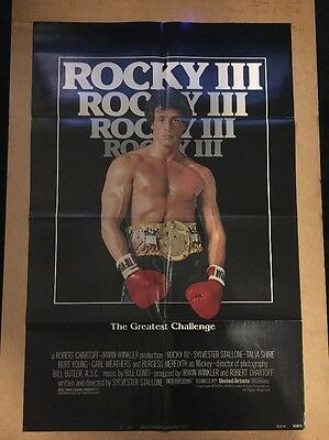 ROCKY 3  (1982) US 1  SHEET  ORIGINAL CINEMA POSTER  - Not A UK Quad Poster