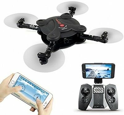 FQ777 FQ17W Pocket Foldable Drone With WIFI FPV Camera RC Quacopter Remote and
