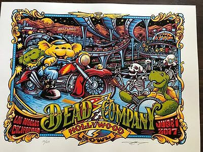 Dead And Copany  Hollywood Bowl Tour Poster Grateful Dead Signed Only 450 Made