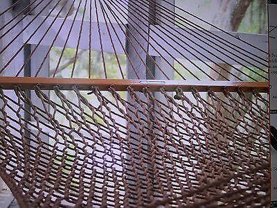 PAWLEY'S ISLAND Presidential DuraCord Rope Hammock Antique Brown 15DCAB NEW