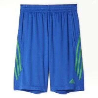 Kid's Adidas Core Shorts Royal Blue Athletic Basketball Sport BH3305 Sizes S-XL