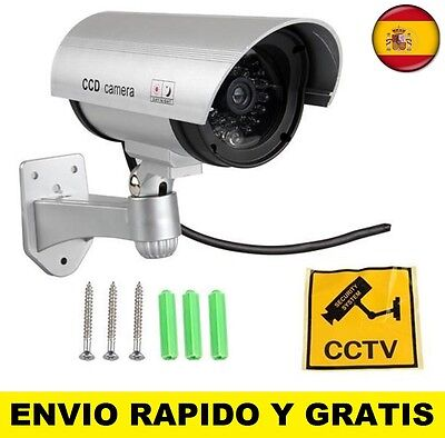 Camara falsa de vigilancia seguridad con luz led camara de video