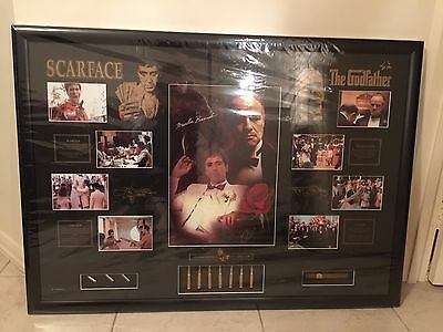 The Godfather And Scarface Limited Edition Framed Memorabilia