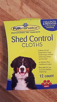 FURminator Shed Control Dog Grooming Cloths~Dog Wipes~12 count