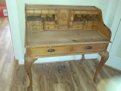 ornate period design hand made desk , many crafted features