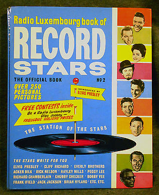Vintage 1963 BOOK OF RECORD STARS ANNUAL # 2 ELVIS/1960s Pop Music Collectable