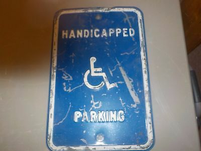 Metal Sign Handicapped Parking