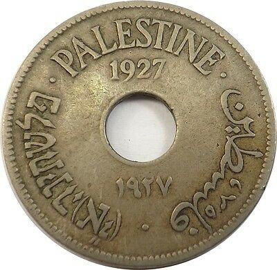 Palestine 10 Mils, 1927 Nice Rare Coin Low Mintage Lot#797