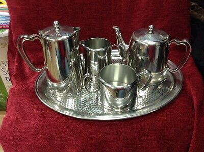 Deco Olde Hall Stainless Steel 5piece Tea Set