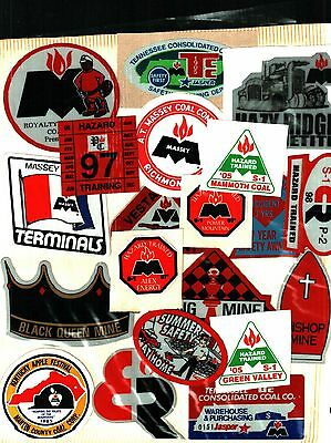 Huge Lot Of 100 Different Massey Coal Co. Coal Mining Stickers