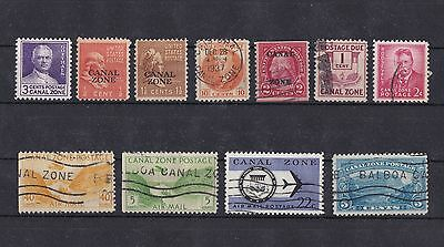 Interesting Selection of old Canal Zone Stamps (used & mint)