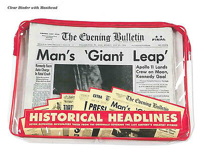 Great Event Papers Man on the Moon, Kennedy, Lincoln Shot, Vintage Americana