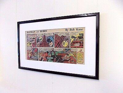 Original Batman and Robin DC Comic Mounted And Ready to Frame Birthday Gift