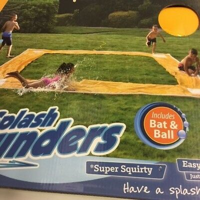 Splish & Splash Slide Rounder Water Slide Kids Outdoor Fun Summer + Bat and Ball