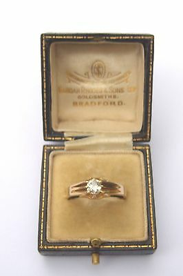 An Edwardian 0.50 carat old cut single stone Diamond Gents ring..*Free Post*