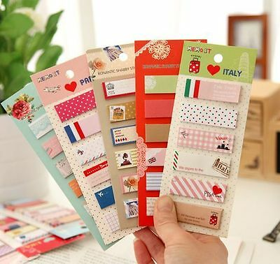 120Pcs Mark Flags Tab Pad Point It Sticky Notes Sticker Post Bookmark