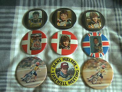 coventry speedway tin badges x9