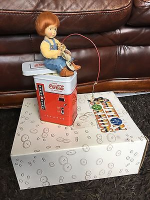 Coca Cola Hal Payne's Ol Fishing Hole Button Box Kids With The Box