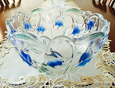 Mikasa Germany Bluebells Green/blue Crystal Bowl - Now Discontinued