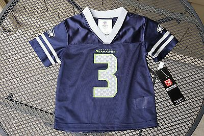 Seattle Seahawk Russell Wilson #3 NFL Team Apparel Jersey 2T 3T 18 Month Toddler
