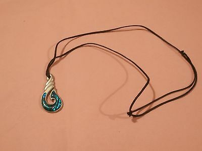 Maori surfer tribal pewter abalone necklace (adjustable)