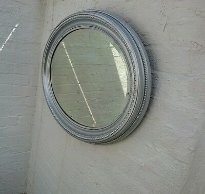 edwardian oval mirror upcycled
