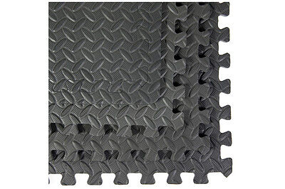 Interlocking Anti-Fatigue Floor Mats with Borders 4-Pack Gray by Best Step