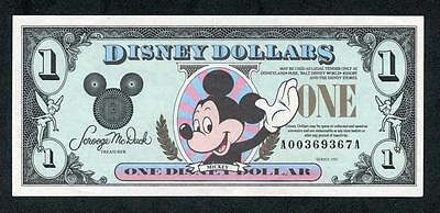 *another 1991 Disney One Dollar W/ Mickey Mouse Aa  W/ Envelope Please Lqqk!