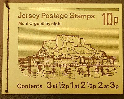 Jersey Stamp Booklet 'Mont Orgueil by Night' 10p Mint GB 1973 issue
