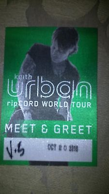 Keith Urban Meet'n'Greet Pass