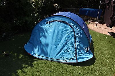 Quechua 2 Seconds Easy III Pop Up Tent 3 Man Blue Camping Trips Hiking Festival