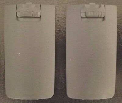 Motorola OEM NNTN6389A Qty. 2 Battery Door Cover Gray - DTR410-DTR550-DTR650