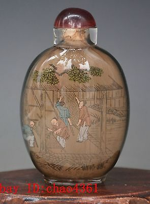 China Hand Painted Colorful snuff bottle *77