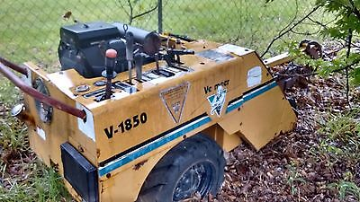 Vermeer V-1850 Walk Behind Trencher with a 18 hp Kolher motor and electric start