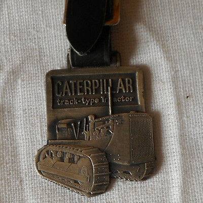 Vtg Caterpillar Equipment Track Type Tractor Watch Fob Syracuse Ny Supply Co.