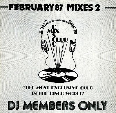 LP - DISCO MIX CLUB - February 87 Mixes 2 (Very Rare Mixes, Only for DJ's) MINT