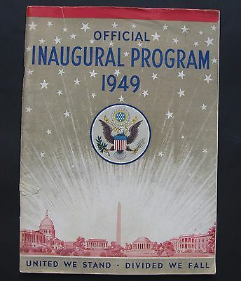 United States President Harry Truman Official Inaugural Program 1949