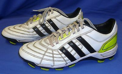 adidas 118 Football AFL Footy Soccer Boots Size US 10 Synthetic Moulded White