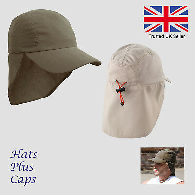 Legionnaires Cap Sun Hat UV Neck Protection UPF Lightweight Microfibre Summer