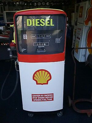 Salesmaker Gibarco Petrol Bowser SHELL with drum trolley 1950-60s ORIGINAL