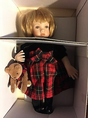 """Collectible doll Paulinette """"Christina"""" LE  of 200 porcelain COA stand box"""