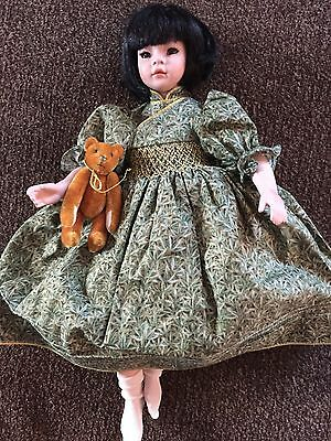 """Collectible doll  Pauline """"Ling"""" LE 218 of 1400 w/box, COA, 12"""" tall"""