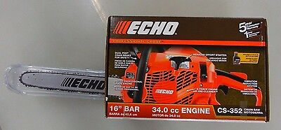 "Echo CS-352 16"" Bar + Chain 34.0cc Engine Professional Grade Chainsaw"