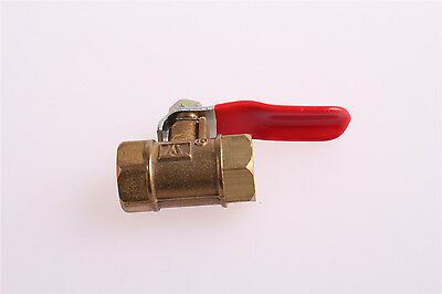 "3Pcs Brass Ball Valve 1/8"" BSP Thread Female to Female Red Lever Handle"